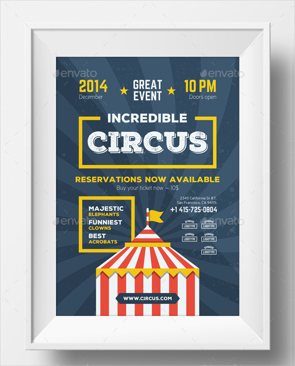 Incredible Circus Poster Template