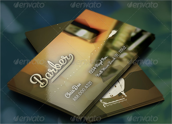 Colorful Barber Business Card Template