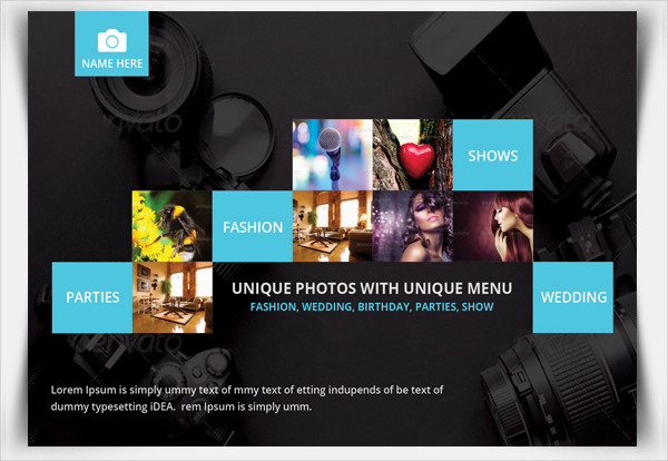 Colorful Photography Postcard Template
