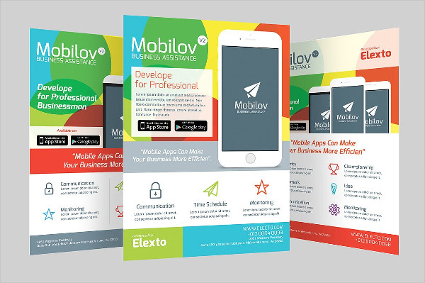Colorful Mobile App Flyer Template