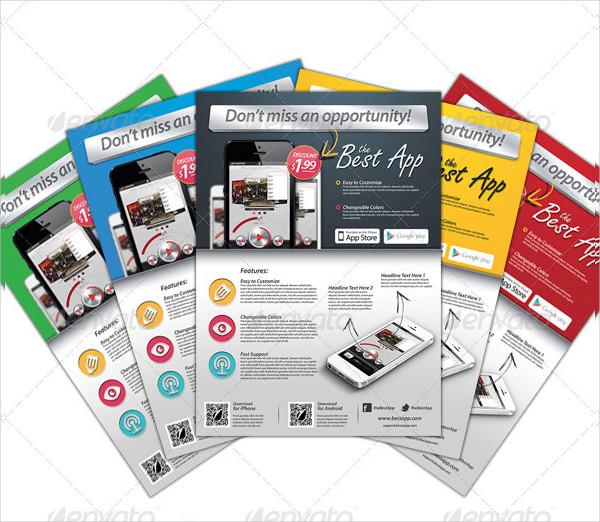 Popular Mobile App Flyer Template