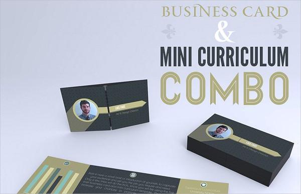 Mini Foldable Business Card Template