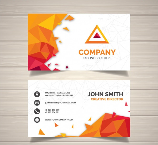 Powerful Business Card in Geometric Design