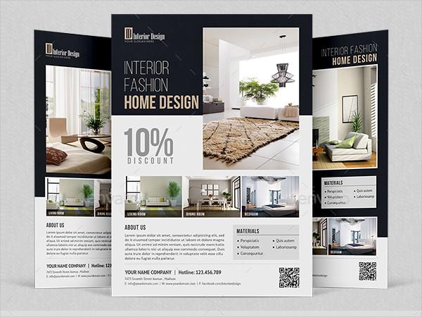Interior Home Design Flyer Template