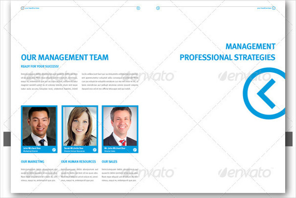 Professional Brochure Template for Company