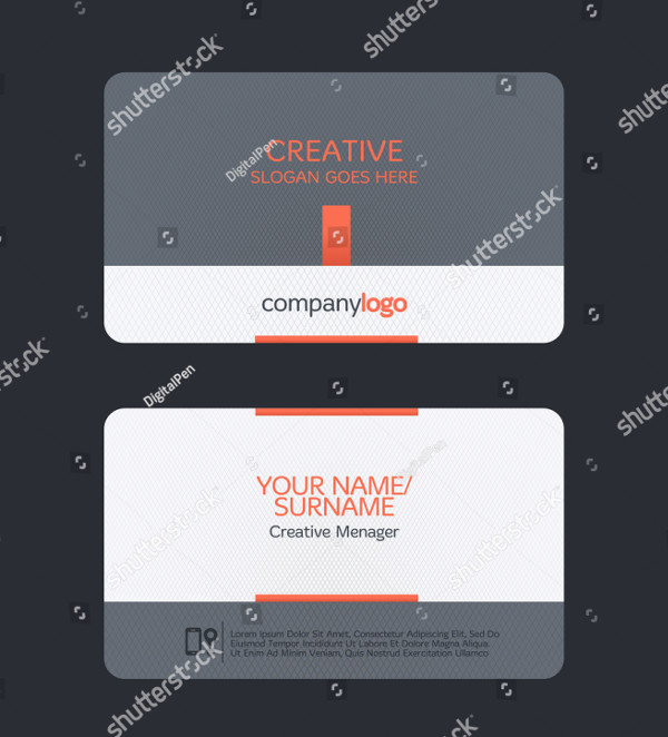 Clean Global Business Card Template