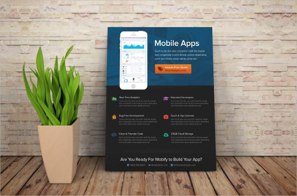 Corporate Mobile App Marketing Flyer Template