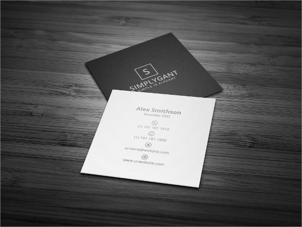 Clean Square Minimal Business Card Template