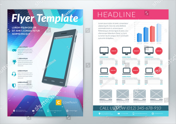 Abstract Mobile App Business Flyer Template