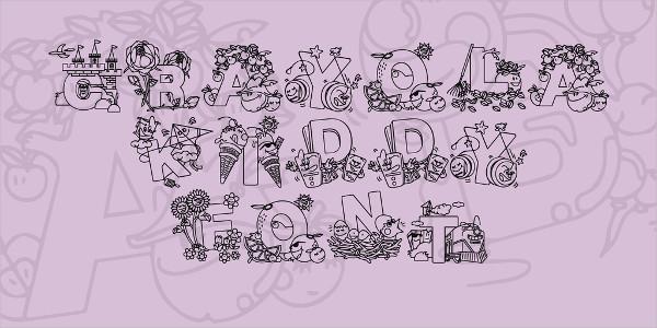 Crayola Kiddy Summer Font Free