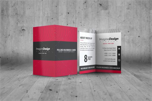 Stylish Folded Business Card