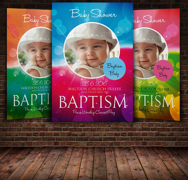 Awesome Baptize Church Flyer Template