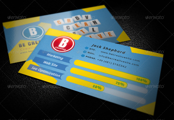 Creative Business Card inspired by Ruzzle Game
