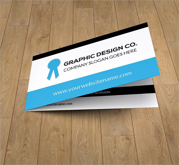 Graphic Design Folded Business Card Template