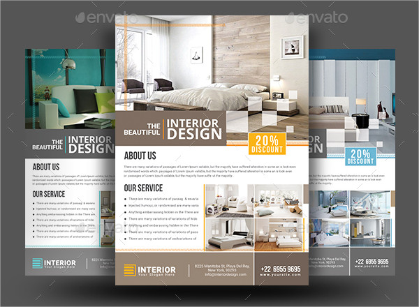 Creative Interior Design Marketing Flyer