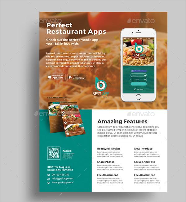 Clean & Modern App Flyer Template