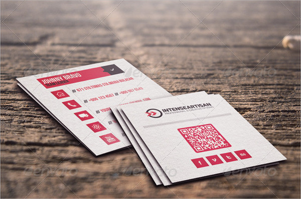 Square Graphic Designer Business Card Template
