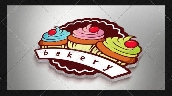 Bakery Cupcake Logo Template