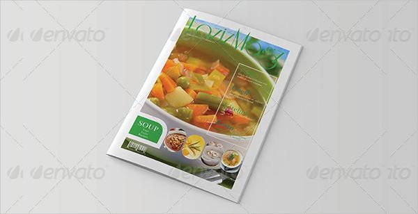 Customizable Food InDesign Magazine