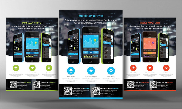 Designed Mobile Apps Promotion Flyer Template