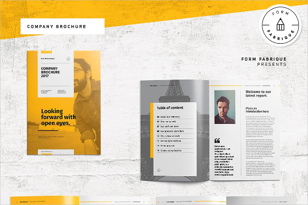 Company Report Brochure Template