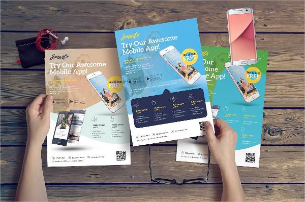 Modern Flyer for Promoting Smartphone Apps