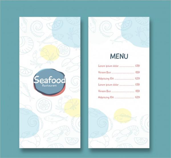 Free Seafood Restaurant Menu Template