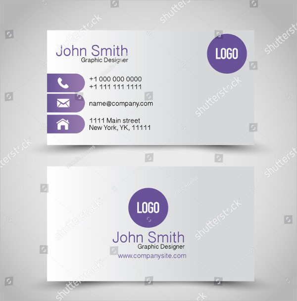 Purple & Silver Global Business Cards Set