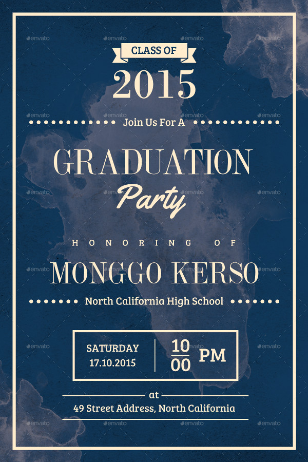 Fully Editable Graduation Invitation Template