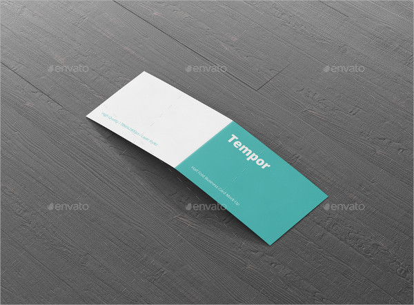Elegant Folded Business Card Template