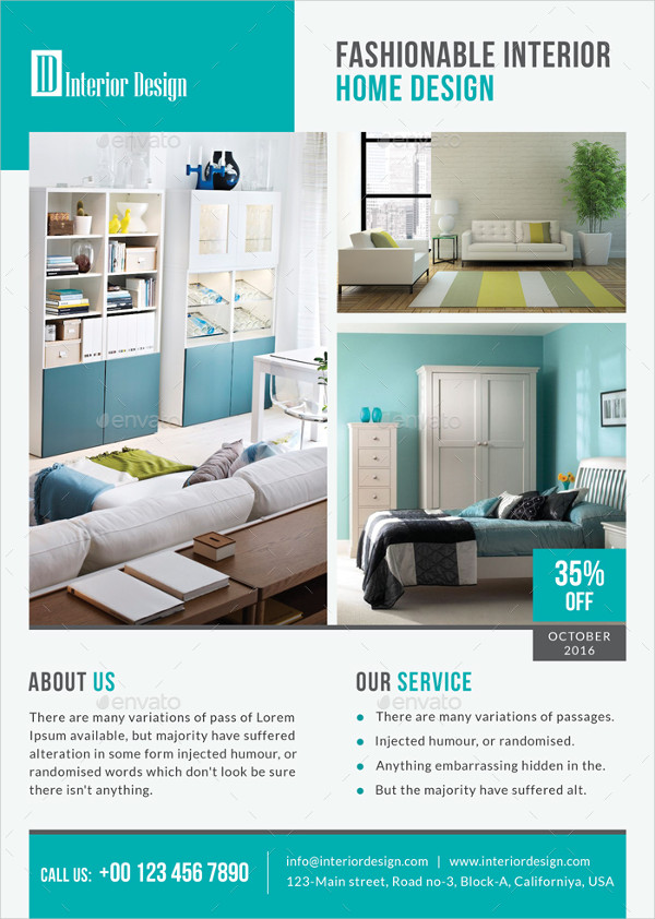 Elegant Interior Design Services Flyer