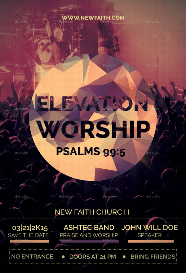 Elevation Worship Church Flyer Template