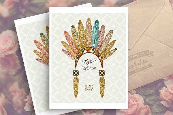 Ethnicity Thanksgiving Day Greeting Card