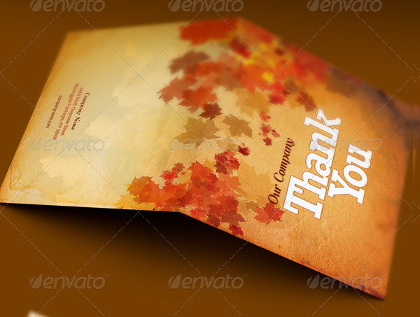 Fall and Harvest Thank You Card Template