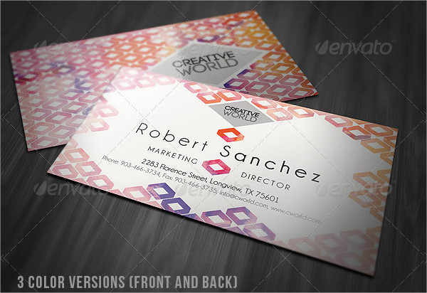 Geometric Style Clean Business Card
