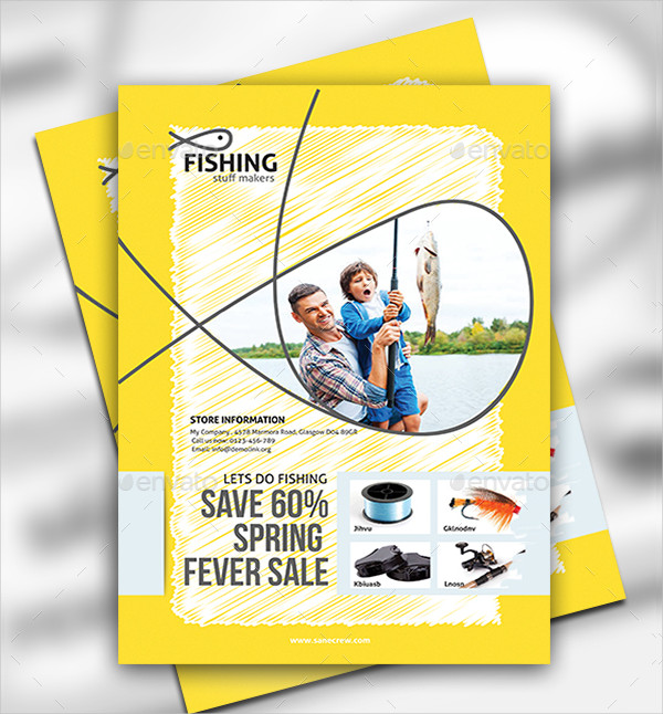 Fishing Equipment Store Flyer Template