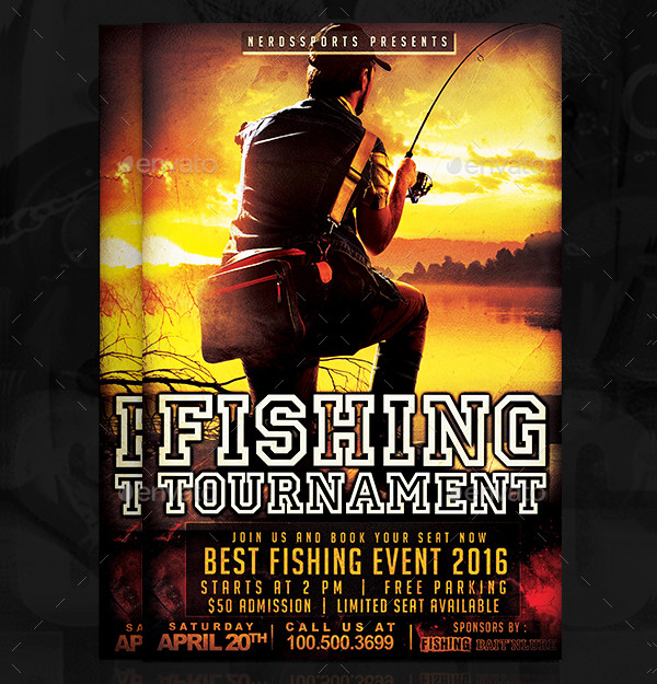 Fishing Tournament Sports Flyer Template