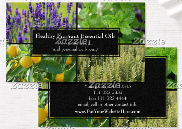 Natural Herbal Business Card Template