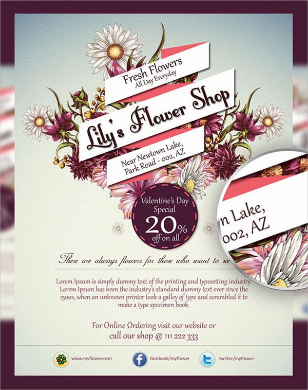Flower Shop Sales Flyer Template