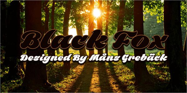 Free Black Fox Summer Font