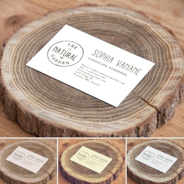 Free PSD Business Card of Nature Business
