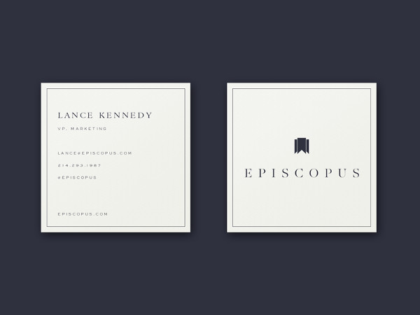 Free Vector Square Business Card Template