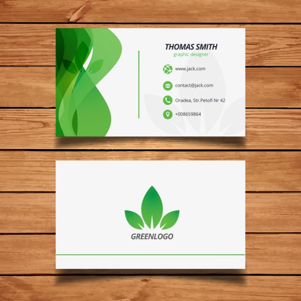 Free Vector Business Card Design of Nature