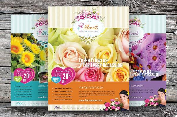 Unique Flower Shop Flyer Templates