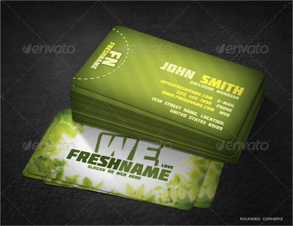 Fresh Nature Business Cards