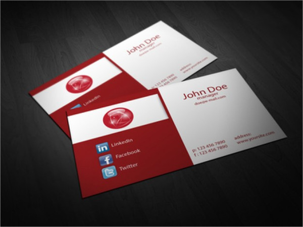 Free Vector Folded Business Card Template