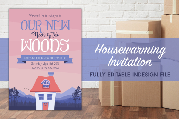 Fully Editable Housewarming Party Invitation Template