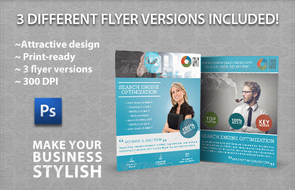 Fully Editable SEO Services Flyers