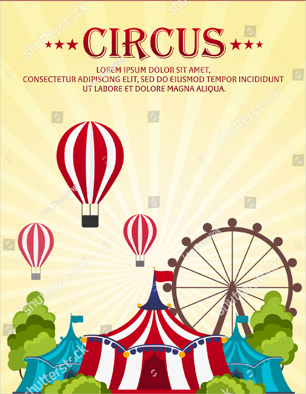 Funny Circus Poster Template