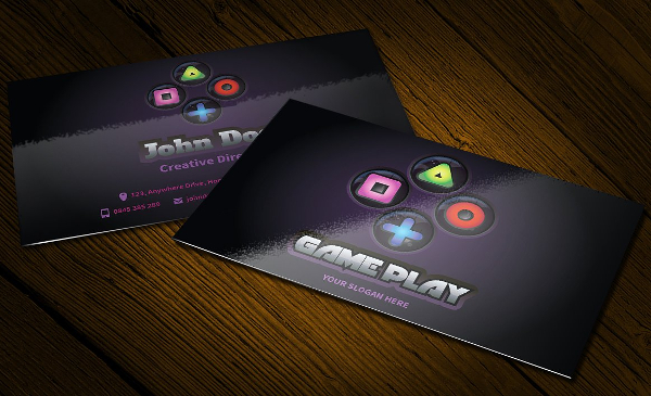 Game Play Business Card and Logo